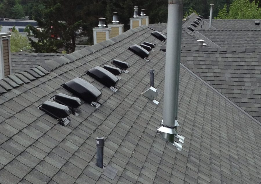 Slopped shingled Commercial roofing system