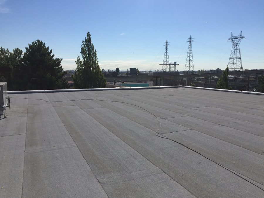 showing a flat roof